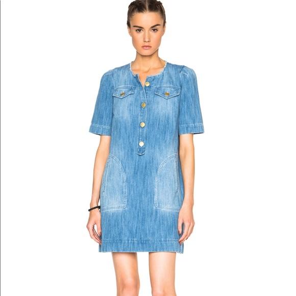 baca910ecc4 Isabel Marant Dresses   Skirts - Isabel Marant Etoile Oriane Fluffy Jean  Dress 34